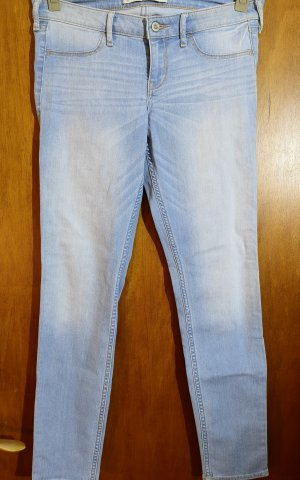 Hollister Jeans-Leggings – Hellblau mit Waschung