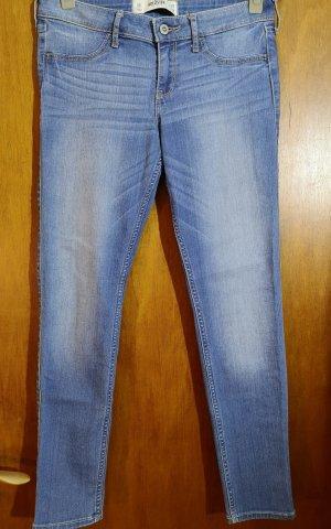 Hollister Jeans-Leggings – Mittelblau mit Waschung
