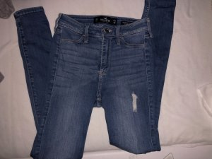 Hollister Jeans a vita alta blu