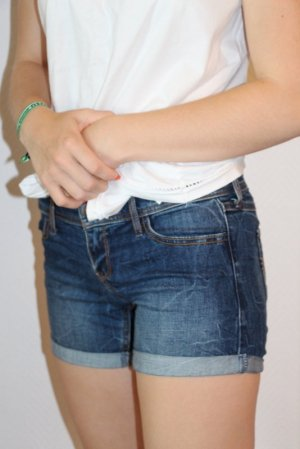 Hollister Denim Shorts steel blue
