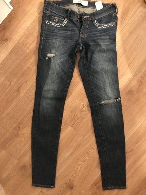 Hollister Jeans Strass steinchen Glitzer 29 ripped