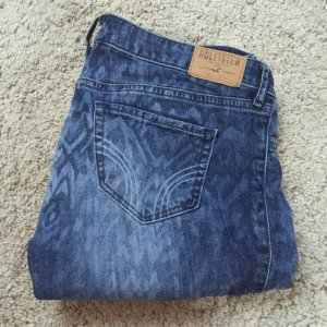 Hollister Jeans W:27, mit Muster Blau