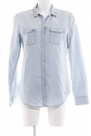 Hollister Chemise en jean bleu azur style décontracté