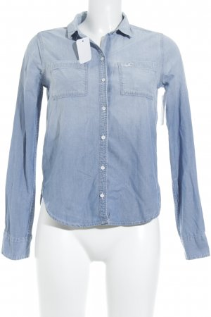 Hollister Jeanshemd himmelblau Casual-Look