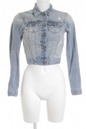 Hollister Jeansjacke mehrfarbig Street-Fashion-Look