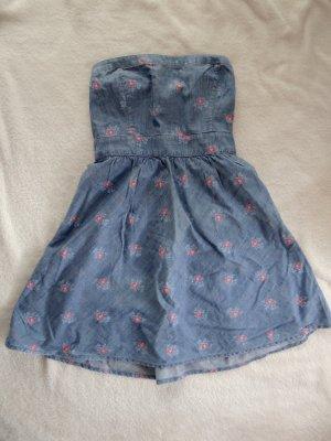 Hollister Jeanskleid mit Blumenaufdruck
