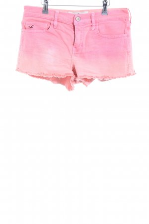 Hollister Denim Shorts pink-cream color gradient casual look