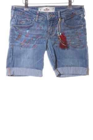 Hollister Pantalón corto de tela vaquera azul-rojo look casual