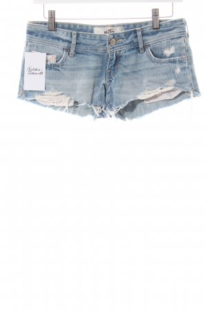 Hollister Jeansshorts blau Street-Fashion-Look