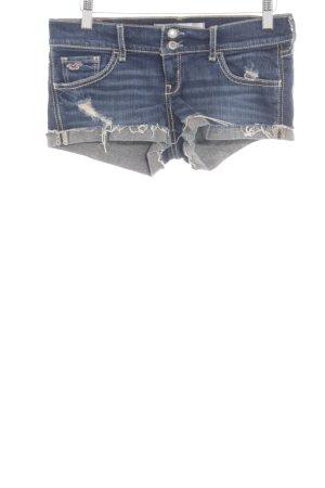 Hollister Jeansshorts blau Farbverlauf Casual-Look
