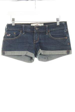 Hollister Pantalón corto de tela vaquera azul oscuro estilo sencillo