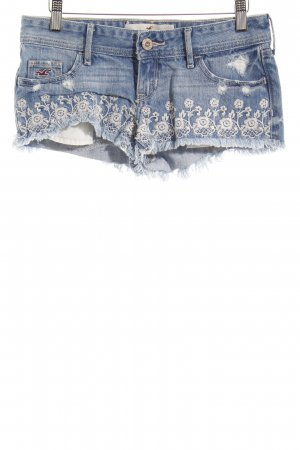 Hollister Jeansshorts himmelblau Destroy-Optik