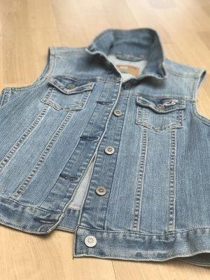Hollister Gilet en jean gris ardoise-bleuet