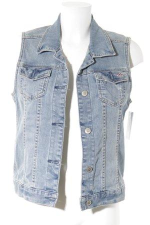 Hollister Gilet en jean bleu clair style décontracté