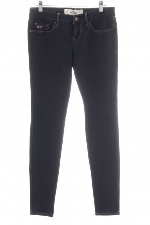 Hollister Jeggings azul oscuro-naranja dorado look casual