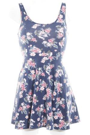 Hollister Jerseykleid dunkelblau Blumenmuster Casual-Look