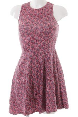 Hollister Jerseykleid rosa-kornblumenblau Ornamentenmuster Casual-Look