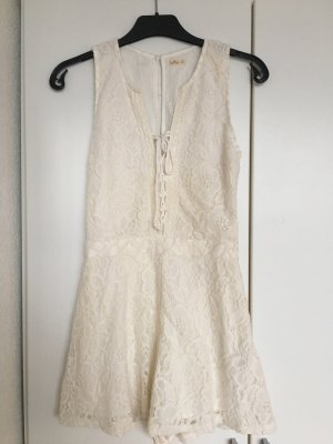 Hollister Lace Dress white-cream