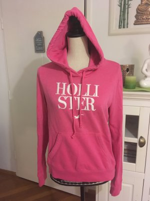 Hollister Hooded Sweater raspberry-red-white