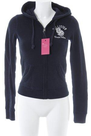 Hollister Jersey con capucha azul oscuro-blanco puro Estilo playero