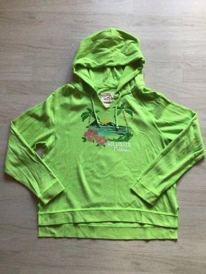 Hollister Jersey con capucha verde pradera-blanco Algodón