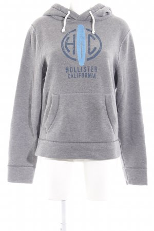 Hollister Jersey con capucha gris look casual