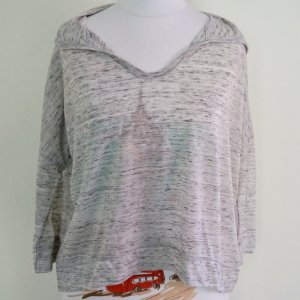 Hollister Hooded Shirt light grey-silver-colored