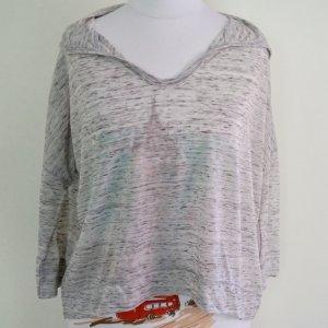 Hollister Blusa con capucha gris claro-color plata