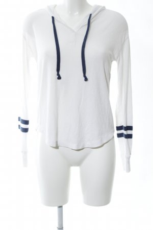 Hollister Hooded Sweatshirt white-blue striped pattern casual look