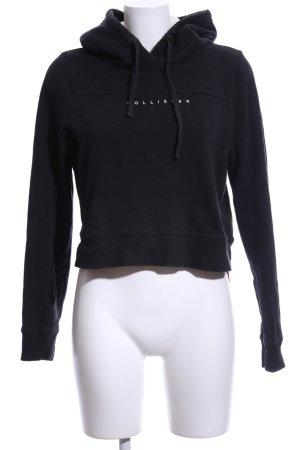 Hollister Kapuzensweatshirt schwarz Schriftzug gedruckt Casual-Look