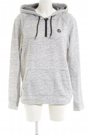 Hollister Hooded Sweatshirt light grey-black flecked casual look