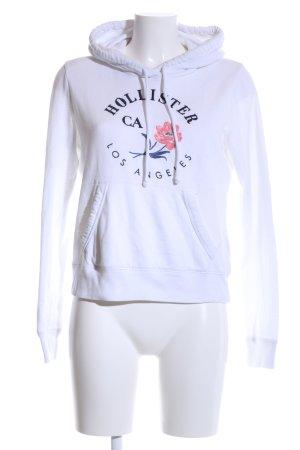 Hollister Kapuzensweatshirt Motivdruck Casual-Look