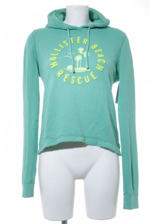 Hollister Kapuzensweatshirt mint-neongelb Beach-Look