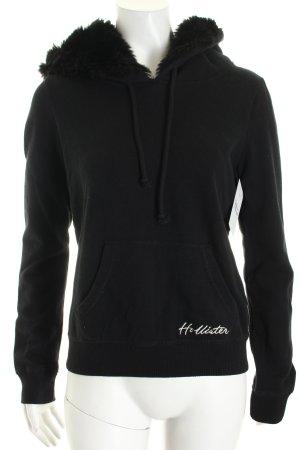 Hollister Kapuzensweatshirt schwarz College-Look