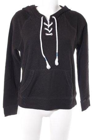 Hollister Kapuzensweatshirt schwarz-weiß Casual-Look
