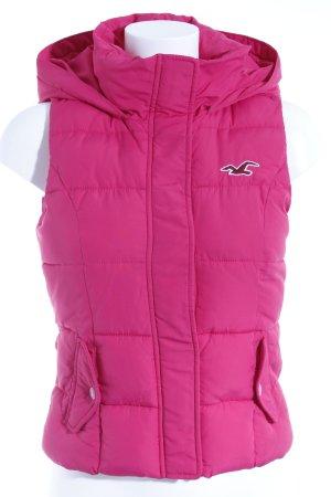 Hollister Kapuzenweste pink Casual-Look