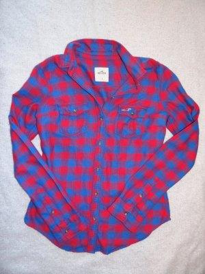 Hollister Camicia da boscaiolo blu-rosso