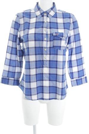 Hollister Blouse à carreaux blanc-bleu motif à carreaux style décontracté