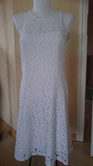 Hollister Kleid Gr L weiß Spitze