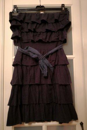 Hollister Vestido bandeau azul oscuro