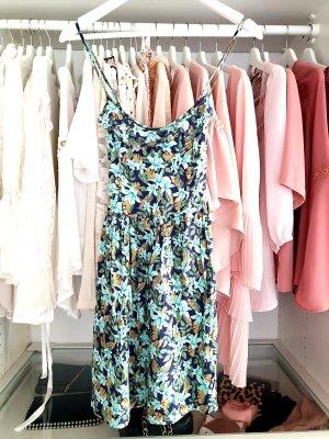 Hollister Kleid M Blumen Bunt Sommer Floral Muster M Hippie Boho