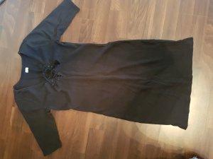 Hollister Kleid Schwarz - Geschnürt Quasten Gr. S