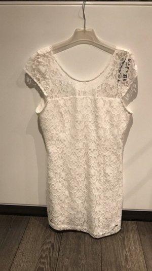 Hollister Kleid spitze weiß