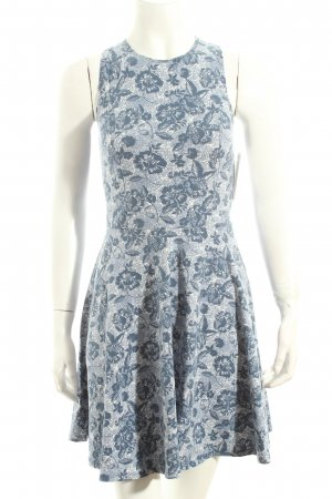 Hollister Kleid weiß-dunkelblau florales Muster Casual-Look