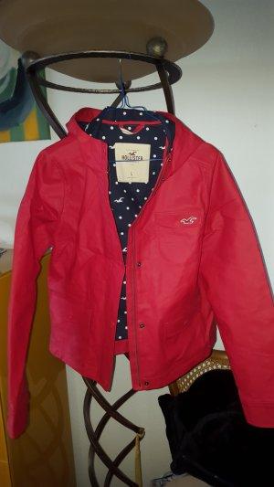 Hollister Raincoat red