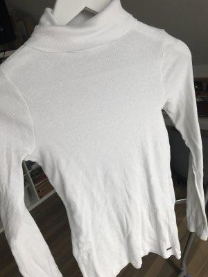 Hollister Camisa de cuello de tortuga blanco