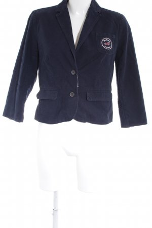 Hollister Blazer corto blu scuro stile casual