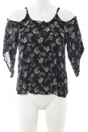 Hollister Kurzarm-Bluse Blumenmuster Casual-Look