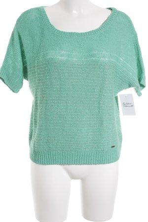 Hollister Kurzarmpullover grün Casual-Look