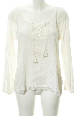 Hollister Langarm-Bluse creme schlichter Stil
